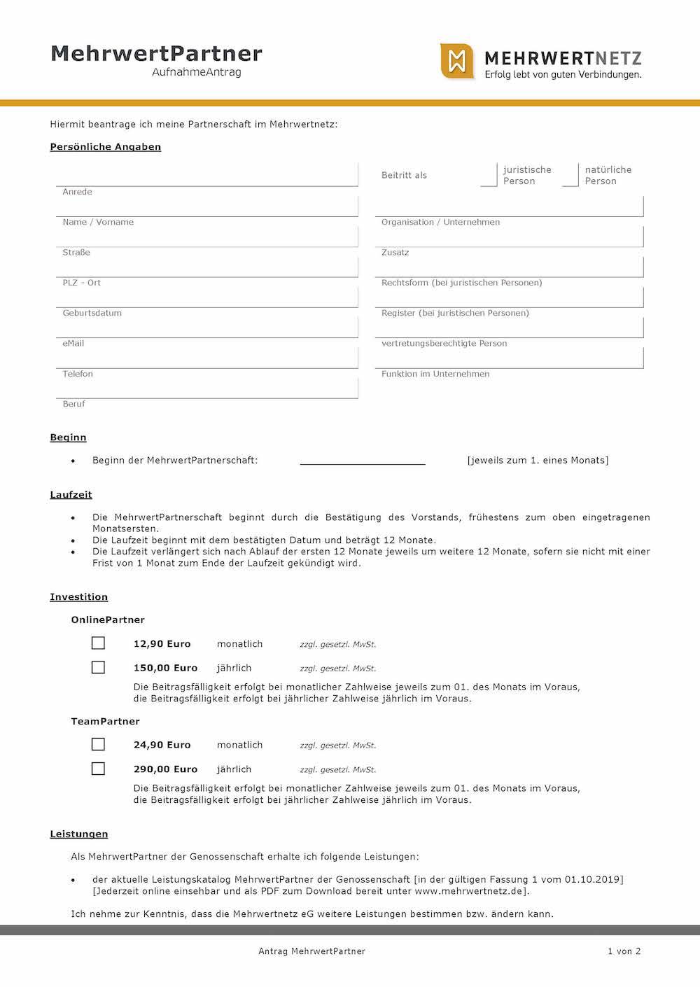 Antrag MehrwertPartner_Mehrwertnetz_eG_Seite_1